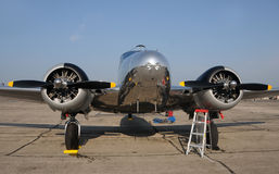 Old propeller airplane Royalty Free Stock Photos