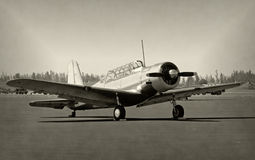 Old propeller airplane Royalty Free Stock Photography