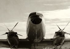 Old propeller airplane Stock Image