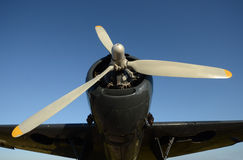 Old propeller airplane Royalty Free Stock Images