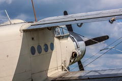 Old propeller biplane Royalty Free Stock Photography