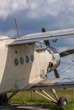 Old propeller biplane Royalty Free Stock Photos
