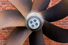 Old propeller from the engine of ship Royalty Free Stock Image