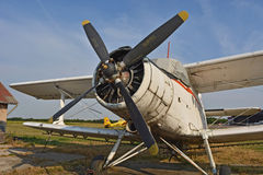 Old propeller plane Royalty Free Stock Photos