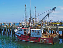 Old Provincetown Fishing Trawler Stock Image