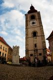 Old Ptuj. Square and Bell Tower in the Old Town of Ptuj, Slovenia Stock Photos