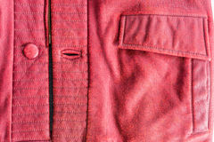 Old PU leather jacket closeup Stock Images