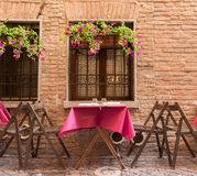Old pub in a tiny alley in the city center of Ferrara Stock Image
