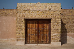 Old Public building - traditional mud building near Dubai, Sharjah, Stock Photo