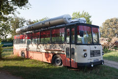 Old public bus Stock Images