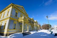 Old Public Hall of Hakodate Ward in the city of Hakodate, Hokkaido Royalty Free Stock Image