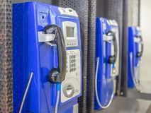 Old public pay phone stock images