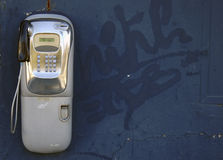 Old public phone Royalty Free Stock Image