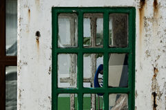 Old public phone. In Ireland, phone booth Royalty Free Stock Photos