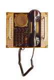 Old public phone isolated Royalty Free Stock Photography