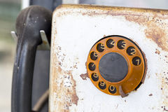 Old public rotary phone Royalty Free Stock Image
