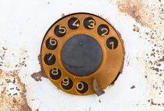 Old public rotary phone Stock Photo