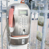 Old public telephone coin (Payphone) Royalty Free Stock Photos