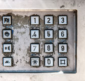 Old public telephone keypad Royalty Free Stock Photos