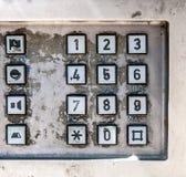 Old public telephone keypad Royalty Free Stock Photos