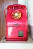 Old public telephone Stock Images