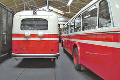 Old Public Transport Vehicles Royalty Free Stock Photography
