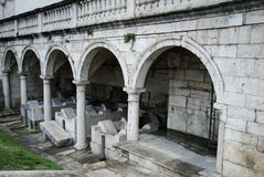 Old public wash house, Ascoli Piceno Stock Photo