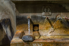 Old Public Water Fountain in Tris Elies village in Troodos, Cypr Royalty Free Stock Photo