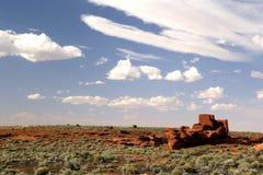 Old pueblo ruins royalty free stock image