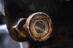 Old pull start knob Royalty Free Stock Photo