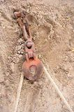 Old pulley Stock Image