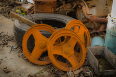 Old Pulleys Stock Image