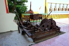 Old pully machine Royalty Free Stock Photos