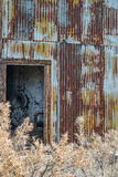 Old pump house shack Stock Photography