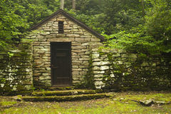 Old Pumphouse. An old stone block pump house Stock Image