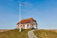 Old pumping station in the Danish marsh Royalty Free Stock Images