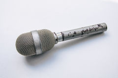 Old Punk Microphone. With peeled off metal Stock Photography