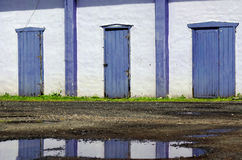 Old purple doors Royalty Free Stock Photo
