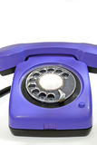 Old purple telephone Royalty Free Stock Photos