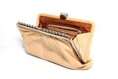 Old purse. On white background Royalty Free Stock Photo