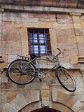 Old Push Bike Mounted on Building, Xanthi Royalty Free Stock Photo