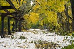 Old Putnam trail in Van Cortlandt Park Royalty Free Stock Image
