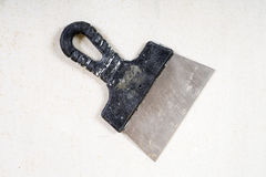 Old putty knife Royalty Free Stock Images