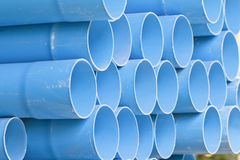 Old of pvc pipes and cobweb Stock Photo