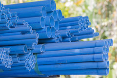 Old of pvc pipes and cobweb Stock Images