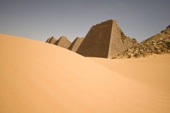 Old pyramids on desert Royalty Free Stock Photo