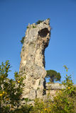 Old quarries, Archaeological Park, Siracusa. Photo of a tall rock with a humanly figure inside the old quarries, Archaeological Park, Siracusa Stock Photos