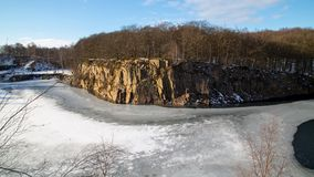 Old Quarry near Dalby in Southern Sweden. Winter at the old Quarry near Dalby in Skane, Southern Sweden royalty free stock image
