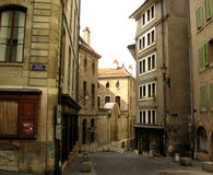 Old Quarter. The Old Quarter of Geneva, Switzerland Stock Image