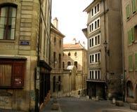 Old Quarter. The Old Quarter of Geneva, Switzerland stock image